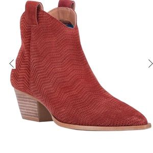 Brand new boho ankle booties by Dingo in Rust